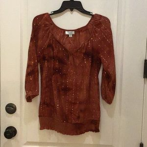 Sequin Rust Top